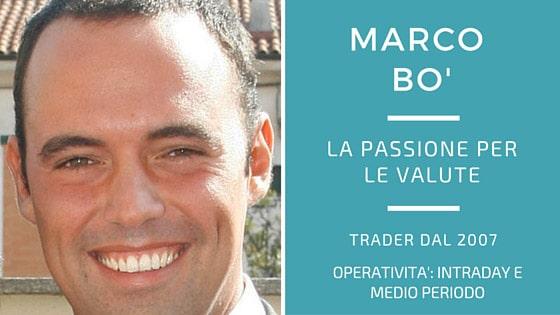 Marco Bo', la passione per le valute