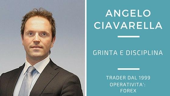 Angelo Ciavarella, Forex con grinta e disciplina
