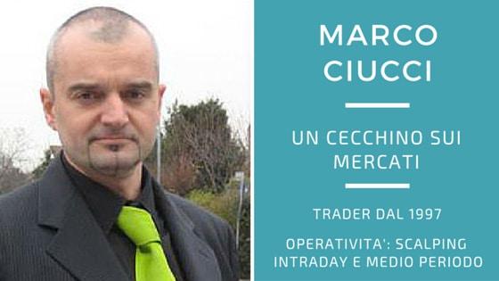 Marco Ciucci, un cecchino sui mercati