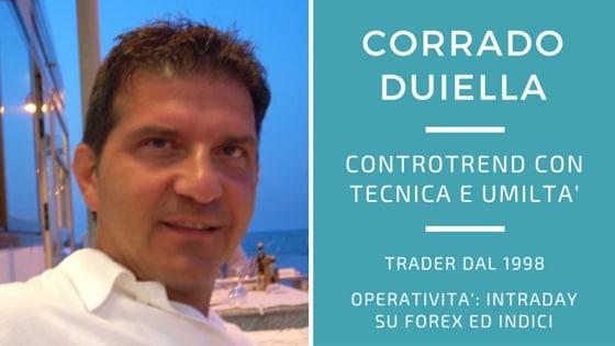 Corrado Duiella, anche controtrend ma con tecnica ed umiltà