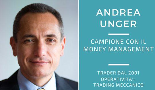Andrea Unger, campione con il money management